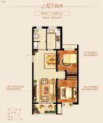 新城里2室2厅1卫89平方米户型图