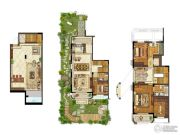 保利礼墅3室4厅3卫242平方米户型图