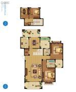 野风启城4室2厅2卫182平方米户型图