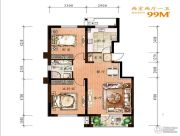 万科惠斯勒小镇2室2厅1卫99平方米户型图