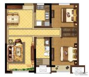 龙湖春江紫宸2室2厅1卫79平方米户型图