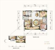 星河丹堤花园3室2厅2卫105--107平方米户型图
