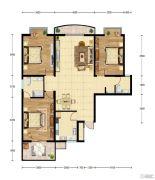 华建新城2室2厅2卫128平方米户型图
