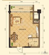 第五街0室1厅1卫38平方米户型图