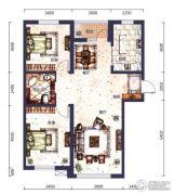 城市之星2室2厅1卫0平方米户型图