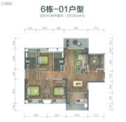 保利碧桂园・悦公馆3室2厅2卫126平方米户型图