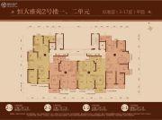 恒大雅苑126--149平方米户型图
