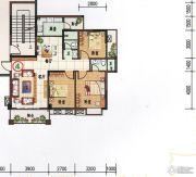 府前雅居苑3室2厅2卫105平方米户型图