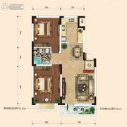 融城7英里3室2厅1卫84平方米户型图