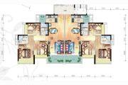 富元港景峰3室2厅2卫106平方米户型图