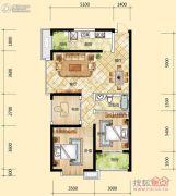 元森北新时代3室2厅1卫92平方米户型图