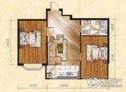 金山翰林苑2室1厅1卫68平方米户型图