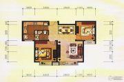 香榭澜湾2室2厅1卫86平方米户型图