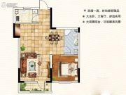 天翔茗苑1室2厅1卫77--81平方米户型图