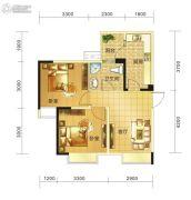 春天印象二期2室1厅1卫56平方米户型图