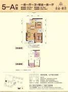 彰泰峰誉1室1厅1卫68平方米户型图