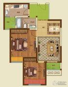 诚城・三英里2室2厅1卫85平方米户型图