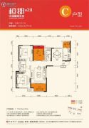 中海国际社区3室2厅2卫120--122平方米户型图
