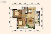 佳兆业广场2室2厅1卫65平方米户型图