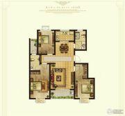 奥华蓝郡3室2厅2卫120平方米户型图