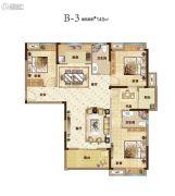 汇悦天地4室2厅2卫140平方米户型图
