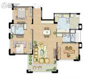 太湖锦园3室2厅2卫143平方米户型图