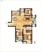 大正翡翠花园3室2厅2卫124平方米户型图