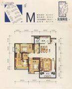 尚城峰境3室2厅2卫104平方米户型图
