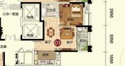 天鹅湾1室1厅1卫51平方米户型图