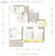 华邦星光里2室2厅2卫97平方米户型图