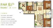 班芙春天4室2厅2卫139平方米户型图