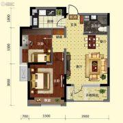 保利溪湖林语2室2厅1卫73平方米户型图