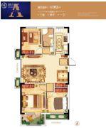 紫微台3室2厅1卫102平方米户型图