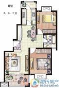 天和湖滨2室2厅1卫85平方米户型图
