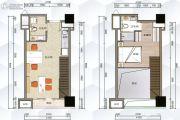 G1蜂汇1室2厅2卫45平方米户型图