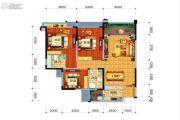 远大中央公园3室2厅2卫120平方米户型图
