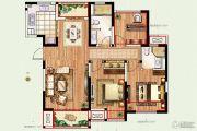 景瑞望府3室2厅2卫117平方米户型图