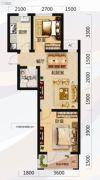 唐轩北廷2室2厅1卫67平方米户型图