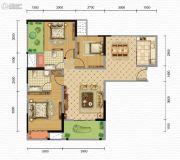 凯旋・煌境3室2厅2卫112--115平方米户型图