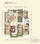九锦台4室2厅3卫221平方米户型图