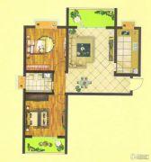 万正龙城2室2厅1卫90平方米户型图
