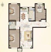 闽辉禧瑞都三期・御府3室2厅1卫111平方米户型图
