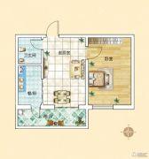 旗凯丽园1室1厅1卫0平方米户型图
