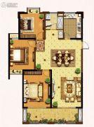 盛和花半里3室2厅1卫129平方米户型图