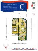 恒泰・时间海1室1厅1卫61平方米户型图