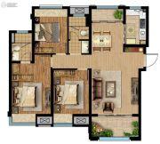 联发星领地3室2厅2卫110平方米户型图