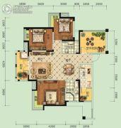 宏信・公园里3期3室2厅2卫134平方米户型图