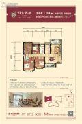 昆明・恒大名都4室2厅2卫1--151平方米户型图