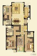 金鼎湾如院4室2厅3卫195平方米户型图