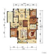 保集湖海塘庄园4室2厅2卫163平方米户型图